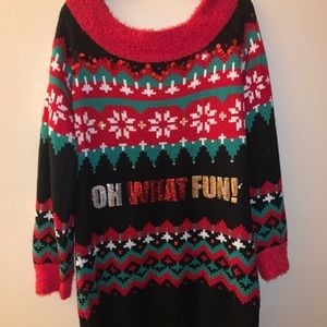 It's our time ugly Christmas sweater dress